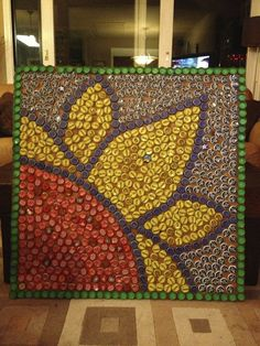 Upcycled Bottle Cap Art - Lessons - Tes Teach #CampArtAndCraft