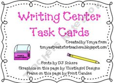 Writing Center Task Cards