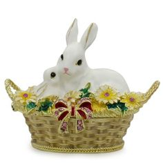 Buy White Bunny Family in Easter Basket Trinket Box Figurine Inches. BestPysanky Online Gift Shop Offers Royal > Jewelry Boxes for Sale Easter Crafts For Kids, Easter Gift, Jewelry Boxes For Sale, Santa Figurines, Easter Bunny Decorations, Online Gift Shop, Mermaid Blanket, Craft Stick Crafts, Diy Crafts