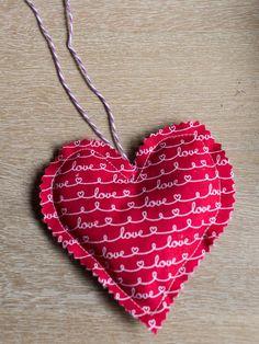 Lavender Sachet Heart Bunting Tutorial Step 7