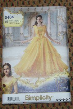 Nieuwe eenvoud volwassen kostuum Disney prinses Belle patroon