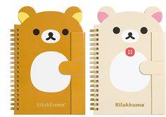 Rilakkuma notebooks -- January 2015 collection (^O^☆♪ Japanese Stationery, Kawaii Stationery, Rilakkuma, Japanese School Supplies, Cute Office Supplies, Daiso Japan, Blue Wallpaper Iphone, Cute Stationary, Bear Theme