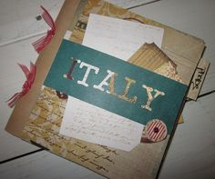 CUSTOM Italy Travel Journal Smash Book by BagLadyLulu