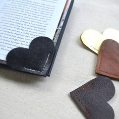 Leather Heart Bookmark – Charming Handmade Book Page Corner Bookmark - Shop All - Whimsical & Unique Gift Ideas for the Coolest Gift Givers Cool Gifts, Unique Gifts, Handmade Gifts, Handmade Items, Personalised Gifts, Crea Cuir, Heart Bookmark, How To Make Bookmarks, Creation Couture