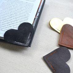 Fancy - Leather Heart Bookmark
