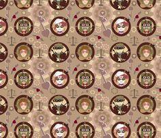 Spoonflower Fabric of the week voting: Steampunk valentine