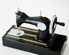 Black Vintage Toy Sewing Machine  Made in USSR  by isantiik, $120.00