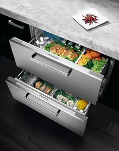 well, at least part of where i could be forced to live; Ariston's Drawer Refrigerators