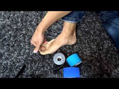 Bunion and Crooked Toe Kinesio Taping Bunion Relief, Pain Relief, Bunion Exercises, Stretches, Bunion Remedies, Get Rid Of Bunions, Bunion Surgery, K Tape, Mudras
