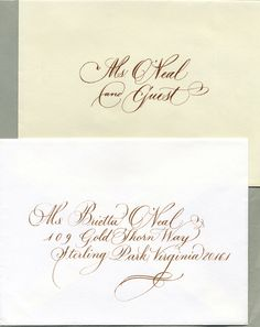 Elegantly Flourished Copperplate Hand Calligraphy Sample E 19 | THE GORST STUDIO