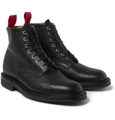 Oliver SpencerGrained-Leather Boots