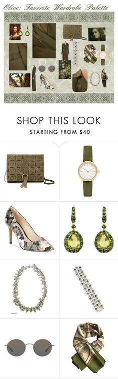"""olive palette"" by sandjpopescu ❤ liked on Polyvore featuring Nanette Lepore, Skagen, French Connection, Annoushka, NOVICA, Tacori, Oliver Peoples and Hermès"
