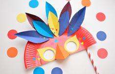 4 Increíbles máscaras de Carnaval hechas con platos de cartón  #Manualidades #Disfraces #Mascaras #DIY #Cartón #Antifaz #disfracesNiños