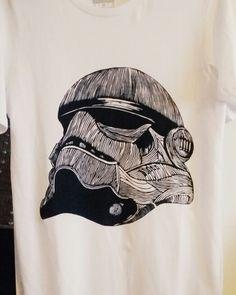 #shirt #starwars #linocut Starwars, Printmaking, Printed Shirts, My Arts, Medium, Prints, Star Wars, Printing, Printed Tees