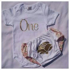 I am one Outfit with Rose (12 Months) | Lil Joy|Girls turnin one 1, perfect birthday outfit for a vintage baby girl