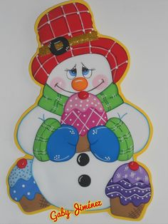 Dulce muñeco de  nieve Christmas Yard, Christmas 2014, Christmas Signs, Christmas Crafts, Christmas Decorations, Christmas Ornaments, Holiday Decor, Build A Snowman, Candy Bouquet