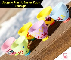 Upcycle Plastic Easter Eggs Teacups - Easy Easter Craft for Kids | Growing up Madison