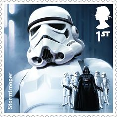 A Royal Mail stamp featuring a Stormtrooper