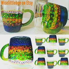 SUMMER BRIGHTS ♡♡♡ Check out our selection of handpainted mugs ♡♡♡