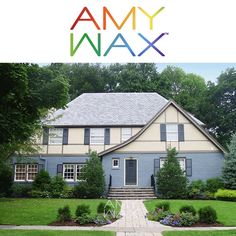 I've been looking back at some of my favorite homes that I've added to my #AmyWax.com website. This Tudor is certainly a home where the new #color palette accentuated the #colors of the slate roof while quietly accentuating the homes #architectural details. To see more homes I've chosen colors for check out my website at: AmyWax.com.
