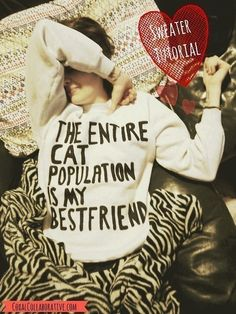 so making this for her birthday. The Entire Cat Population Is My Best Friend Sweatshirt Tutorial