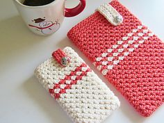 Now that the gifting season is soon approaching, I wanted to design something that appeals to the younger crowd. I designed these cases to suit my android devices but they can easily be customized for an iPhone or iPad. I chose Lily Sugar n Cream as it is 100% cotton and gives great stitch definition. The stitch used in this crochet pattern is a simple variation of the single crochet which surprisingly looks like a simple star stitch. You can use the free pattern to make matching cases for…