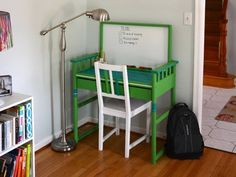 Got old furniture laying around? Upcycle it into something awesome for your child.