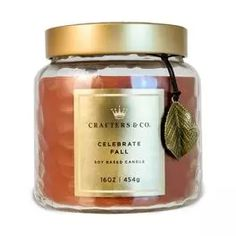 Crafters & Co. Celebrate Fall Candle, 16-oz,