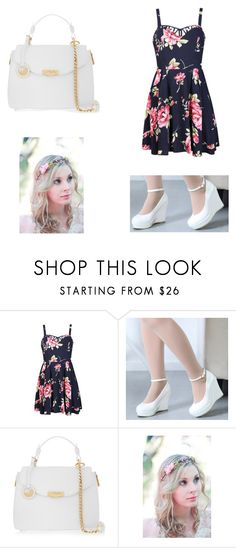 """""""Floral"""" by scarleet-costello ❤ liked on Polyvore featuring Ally Fashion, Versace, women's clothing, women's fashion, women, female, woman, misses and juniors"""