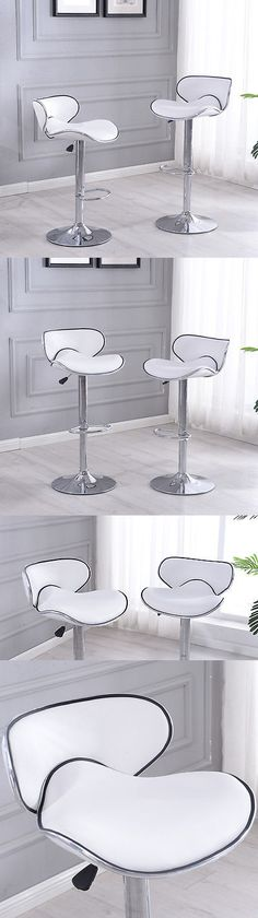 Bar Stools 153928: 2 Pcs White Modern Bar Stool Adjustable Height Swivel Counter Pub Chair Barstool -> BUY IT NOW ONLY: $75.99 on eBay!