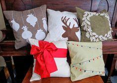 50+ DIY Christmas pillow tutorials, lots of adorable Christmas decor ideas!