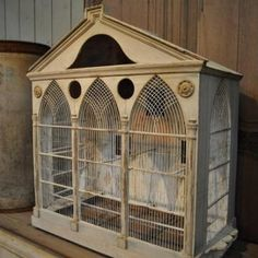 Belle Epoque Bird Cage from France about 1880 Antique Bird Cages, The Caged Bird Sings, Little Birdie, Victorian Dollhouse, Belle Epoque, Bird Feathers, Beautiful Birds, Household Items, Bird Houses