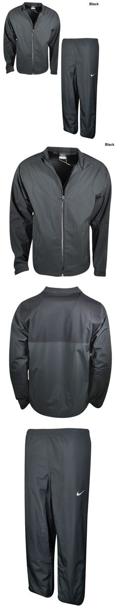 Coats and Jackets 181134: New Nike Storm Fit 2016 Golf (Mens- Xl) Full Zip Black Rain Suit Jacket And Pants BUY IT NOW ONLY: $149.99