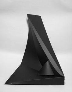 """Artist Eddie Roberts; Sculpture, """"Untitled""""...one piece of paper?"""