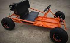Free go kart plans. Download a PDF of the plans to build a two seat go kart from scratch. Shows how to build the frame, paint, and get a go kart parts kit.