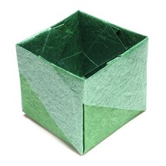 Make an origami open cube III Envelope Box, Origami Envelope, Origami Cube, 3d Origami, Paper Art, Paper Crafts, Diy Crafts, Japanese Origami, Origami Models