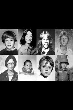 Metallica: Cliff, James, Kirk & Lars as boys.