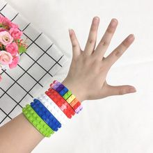 Kids DIY Building Blocks Base Dots Adhesive Plastic Tape Sticky Backing For Lego Tape Toy(China)