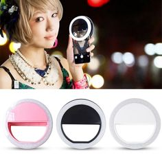 Clip On Led Selfie Lamp For All Smartphones