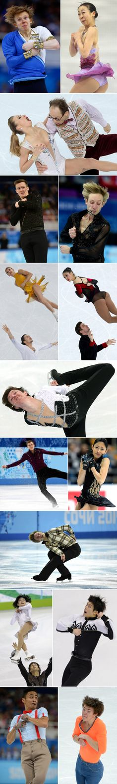 Hilarious faces of Olympic figure skaters