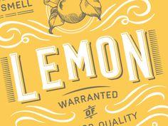 lemon packaging. aaron heth.