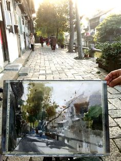 Chien Chung Wei, Sketching in Shanghai Watercolor Sketch, Watercolor Artists, Watercolor Techniques, Watercolor Landscape, Abstract Landscape, Landscape Paintings, Watercolor Paintings, Watercolors, Summer Painting