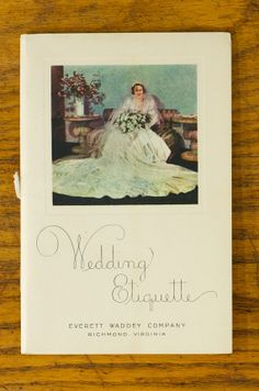 "Vintage ""Wedding Etiquette"" and ""Knowledge for Bridegrooms and Others"" Booklets (ephemera, book, bride, bridal, wedding, groom, stationary, invitation, reception)"