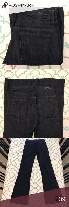"""Beautiful CoH Jeans24 00 31.5"""" Very Dark!! Beautiful Citizens of Humanity Jeans Size 24 (00). 31.5"""" Inseam. 8.75"""" Rise. Mid/High Waist. 12.25"""" Across Back. Please See & Compare Measurements with the lead of your own pants that fit! Good Stretch. Gorgeous Very Dark Blue Wash. Hutton #252 Stretch Fit. High Rise. Wide Leg. New Without Tags Condition. Love! CoH! Anthropologie! : ) Citizens of Humanity Jeans Flare & Wide Leg"""