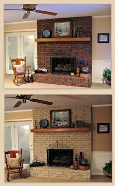 Good Cost-Free painted Fireplace Cover Ideas Gas fireplaces could be a perfect choice for someone who wants to enjoy the heat of a fire without h Fireplace Doors, Paint Fireplace, Fireplace Cover, Home Fireplace, Fireplace Ideas, Basement Fireplace, Brick Fireplaces, Fireplace Update, Fireplace Design