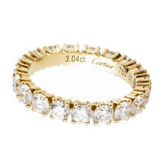 18K yellow gold wedding band, set with brilliant-cut diamonds, Cartier