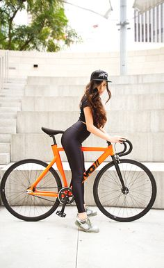 girl + bike | Shared from http://hikebike.net