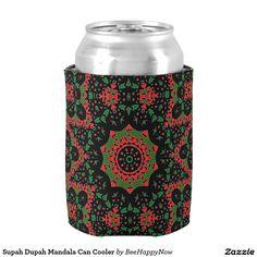 Supah Dupah Mandala Can Cooler