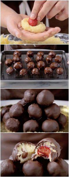 Bombons de Uva e Morango FICA UMA DELICIA ! #BOMBONSDEUVA #chocolate #sobremesa #sobremesas #doce #doces