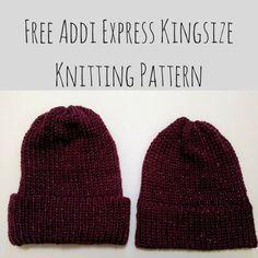 Free Addi Express Kingsize Knitting Pattern